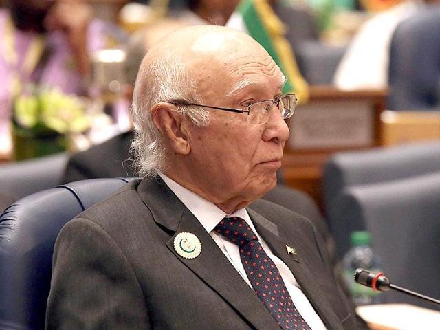 A file photo of Sartaj Aziz, the adviser on foreign policy to Pakistani Prime Minister Nawaz Sharif.