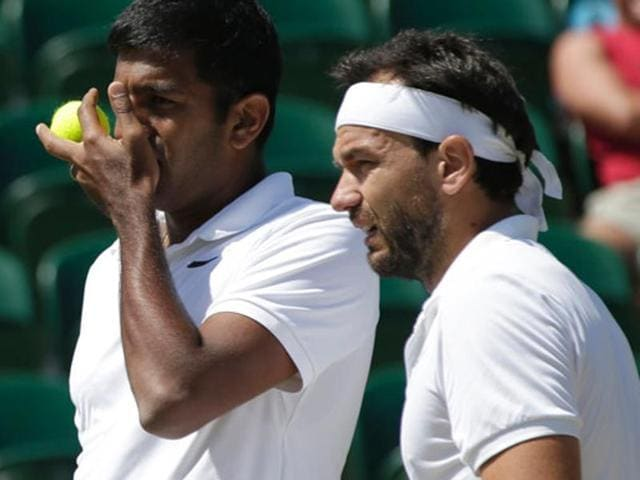 Afile photo of Rohan Bopanna and Florin Mergea.