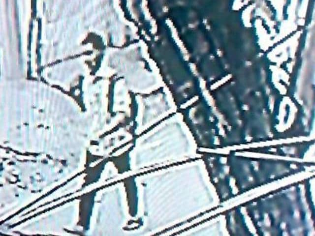 An image from a security camera shows P Ramkumar, the prime accused in the Infosys techie murder case.