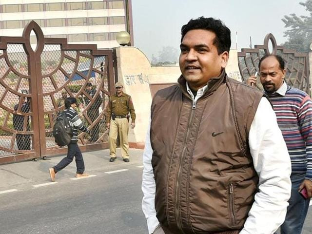 Water minister Kapil Mishra (in photo) was questioned by the ACB in connection with the Rs 400 crore water tanker scam on Monday.