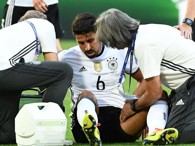 Germany's Sami Khedira  will miss the upcoming match along with suspended Mats Hummels and injured striker Mario Gomez.