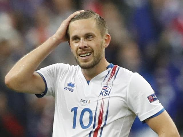 Iceland players acknowledge their supporters after their Euro 2016 campaign was brought to an end by France.