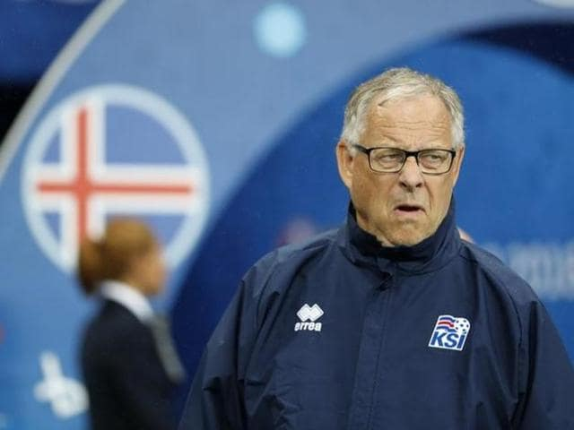 Iceland's joint head coach Lars Lagerback criticised his team's mental freeze during the quarterfinal against hosts France.(Reuters)