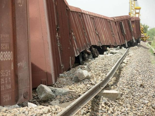A total of 11 wagons of the north-bound goods train named ConRaj derailed about 121km from Churchgate at 2.30am. The train traffic on both the north- and south-bound routes came to standstill