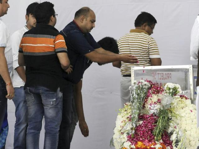 The mortal remains of Tarishi Jain, a 19-year-old woman killed by terrorists in Dhaka on Friday, was consigned to the flames amid heart-wrenching scenes as wailing family members bid adieu to the youngster who wanted to be a lawyer.