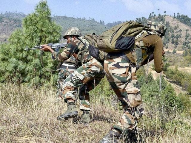 File photo of Indian Army soldiers taking position during an encounter with militants in Keran sector of Jammu and Kashmir.