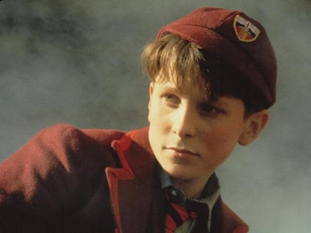 A young Christian Bale in a still from Steven Spielberg's Empire of the Sun.