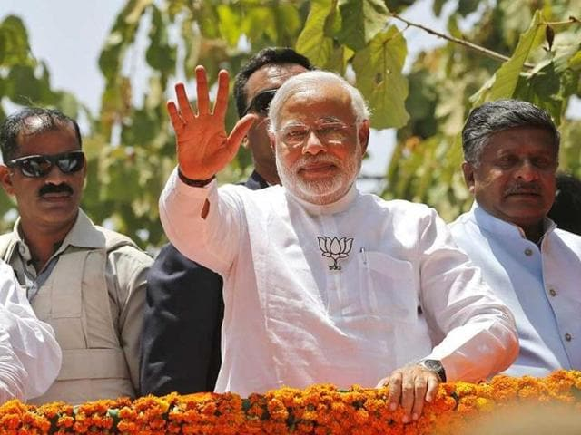 File photo of PMModi in his constituency Varanasi.