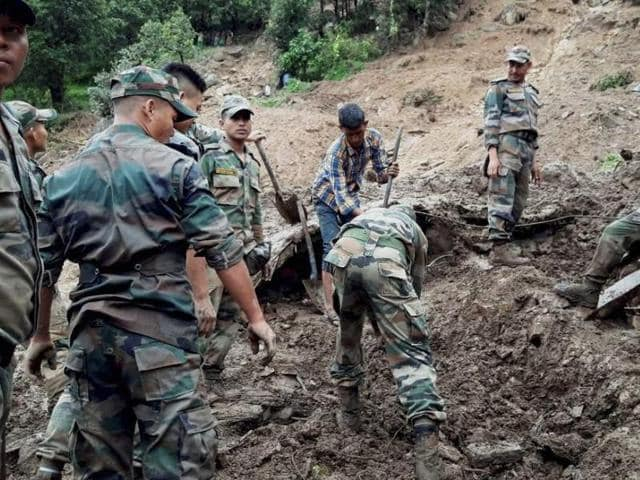 State Disaster Response Force (SDRF) officials said around 20 people are still missing, feared dead or buried under the debris, in the worst-affected districts of Pithoragarh and Chamoli.