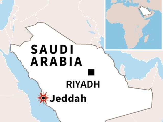 A suicide bomber blew himself up near the US Consulate near Jeddah in Saudi Arabia on Monday.