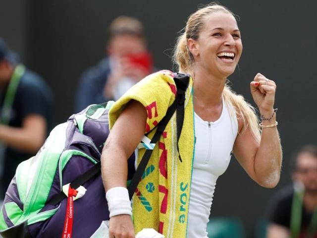 Cibulkova stuns former finalist Radwanska to book Wimbledon quarters berth