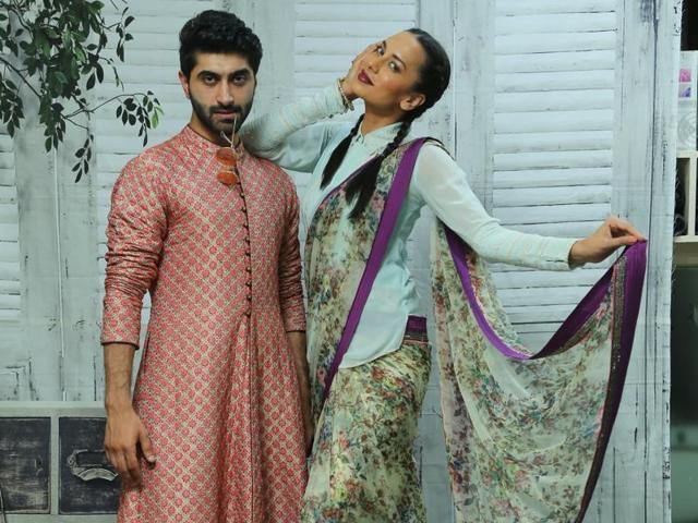 Suhail Nayyar,Sonalika Sahay,Eid Fashion