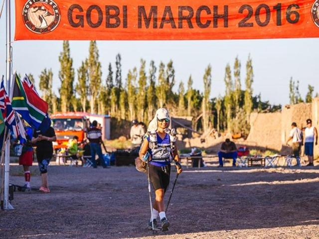 She trekked through Gobi desert to pay tributes to deceased brother