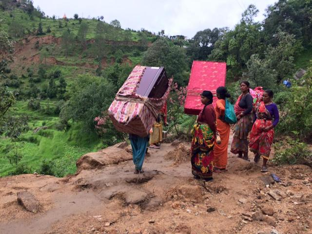 People leaving for safer places in a Pithoragarh village