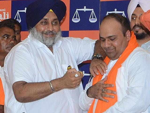 Khaira's induction indicates that the Akalis may field a fresh face in Phillaur to boost party's prospects in the 2017 polls.