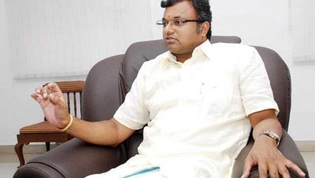 File photo of Karti Chidambaram, son of former Finance Minister P Chidamabram