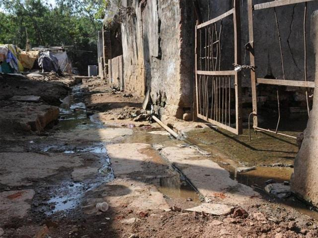 The slaughter house at Jinsi in Bhopal. In September, 2015, the NGT directed the state government to complete the shifting of the slaughter house to an alternate site by June 30, 2016.