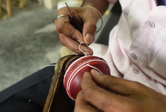 The cricket ball manufacturing industry is dependent on cow leather, which is legally and illegally procured from states where cow slaughter is not banned.
