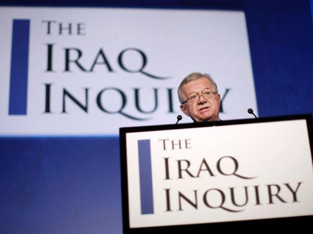 File photo taken on July 30, 2009 shows John Chilcot, chairman of the Iraq Inquiry, outlining the terms of reference for the inquiry and explaining the panel's approach to its work during a news conference in London. Seven years after it began, the official inquiry into Britain's role in the Iraq war finally reports on Wednesday with former prime minister Tony Blair expected to face severe criticism.