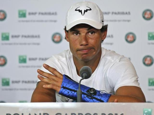 Nadal was forced to pull out of the French Open after two rounds and miss Wimbledon due to a wrist injury.