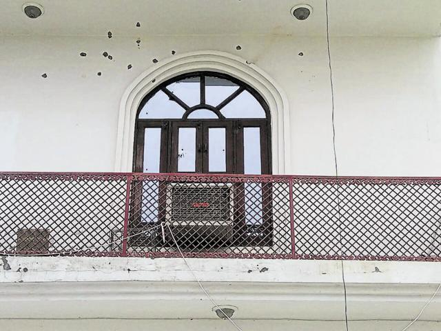 More than 15 rounds were fired at Bevan Nagar's Dankaur residence late on Sunday night, the police said.