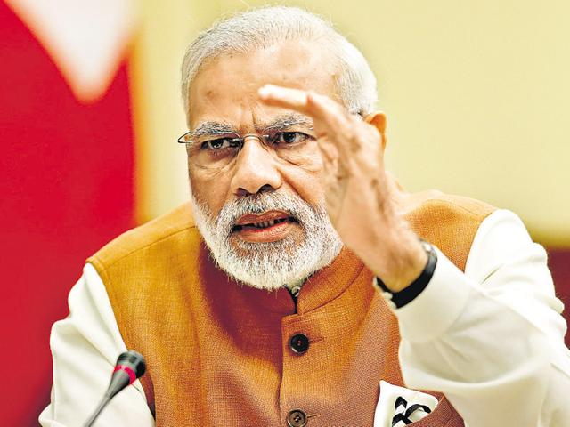From his plans of inclusive growth and 'tax terrorism' to sharing BJP's strategy in UP polls, PM talks to HT about everything, from UP to GDP.(Reuters)
