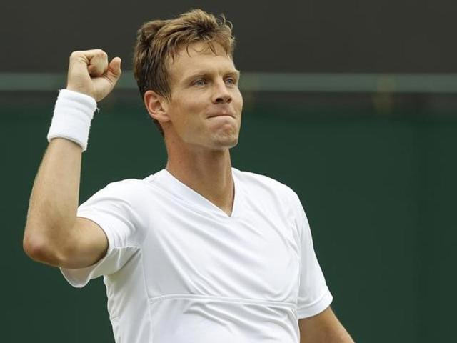 Wimbledon: Berdych wins battle of Czechs over Vesely, enters quarters