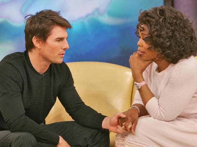 Tom Cruise in the very famous episode of Oprah's talk show.