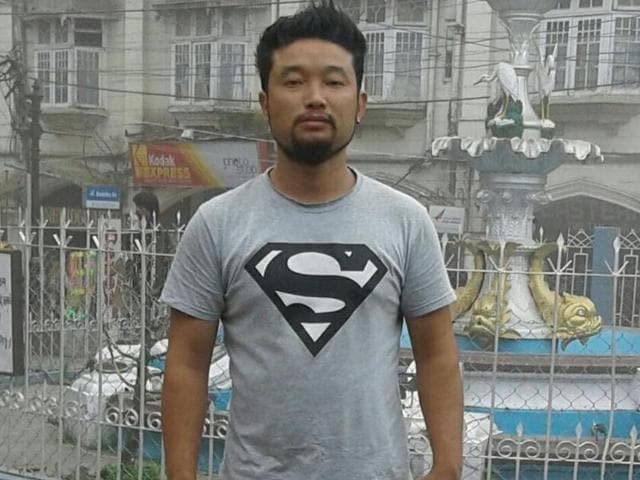 Sailesh Subba, the taxi driver at Krishnanagar taxi stand in Mirik.