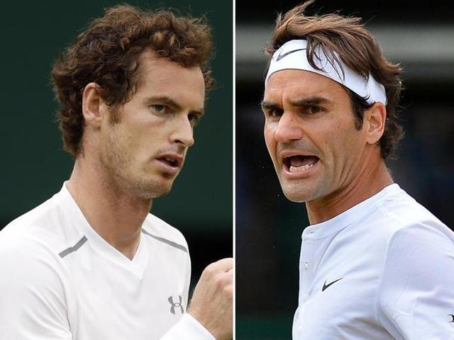 A combination picture of Andy Murray (left) and Roger Federer.