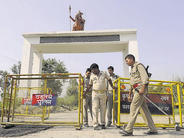 Police force was deployed and prohibitory orders were issued to restrict visitors entry into Bisada village after the Dadri lynching.