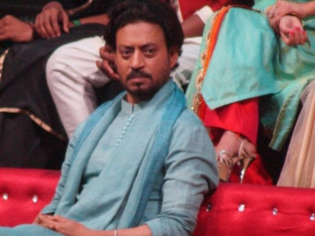 Irrfan Khan during the promotion of film Madaari on the sets of Sa Re Ga Ma in Mumbai.