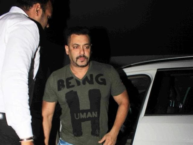 Actor Salman Khan during the screening of film Sultan in Mumbai.