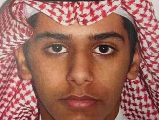 One of Saudi Islamist militant twins, who according to Saudi authorities murdered their mother and tried to kill their father and younger brother for trying to stop them from joining Islamic State in Syria, is seen in this undated handout photo.