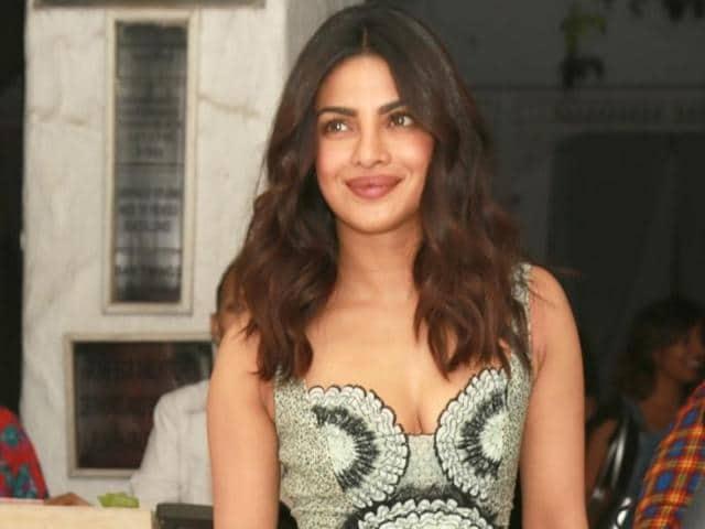 Priyanka Chopra attends a party in New Delhi.