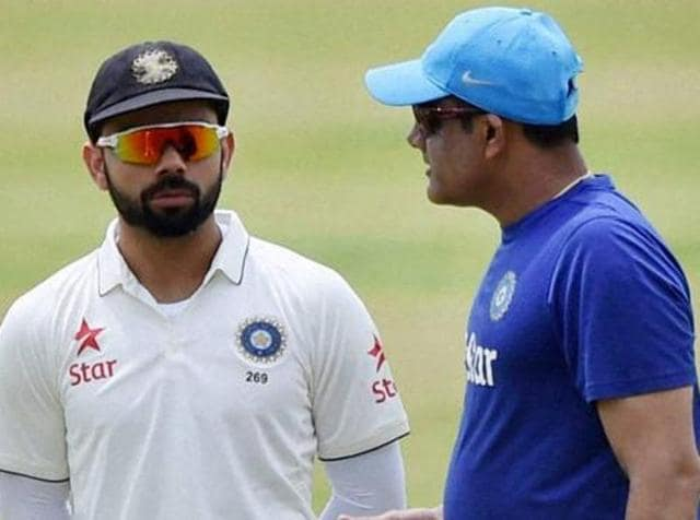 New coach Anil Kumble will team up with Test skipper Virat Kohli starting with the four-match series in the West Indies later this month.