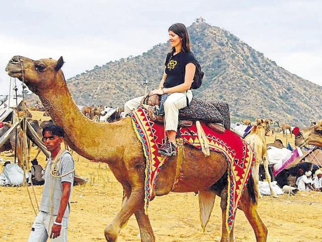 In 2015, arrival of domestic tourists increased (3.51 crore), but number of foreign tourists declined (14.75 lakh).