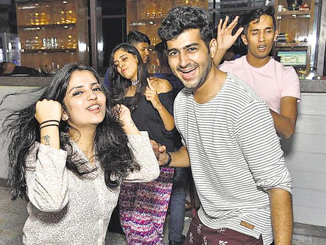 Patrons dancing the night away in their pjyamas at Mojo's Bistro in Vashi