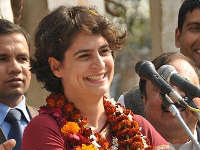 Congress president Sonia Gandhi and  daughter Priyanka Gandhi at an election rally. Priyanka is a crowd-puller and liked by all, according to Captain Amarinder Singh.