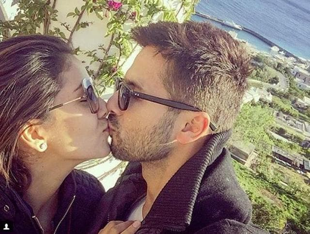 To celebrate the first anniversary of his marriage with Mira Rajput, Shahid Kapoor posted an adorable photo on Instagram where the two are kissing each other.