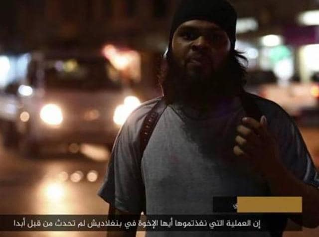 Screen grab of fighter from Islamic State video.