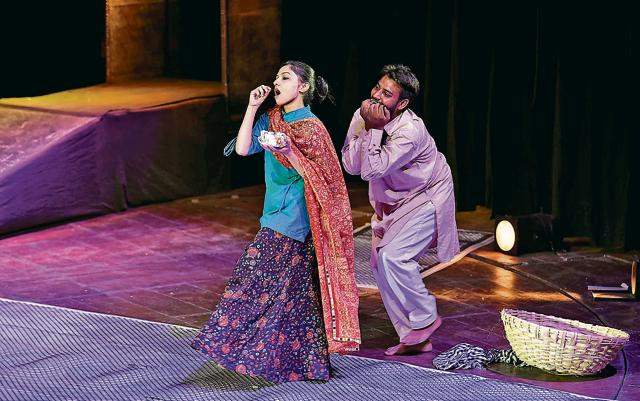 Dastak Amritsar in collaboration with National School of Drama staged Hindustani Urdu play Roshni at Punjab Naatshala, Amritsar, on Wednesday.
