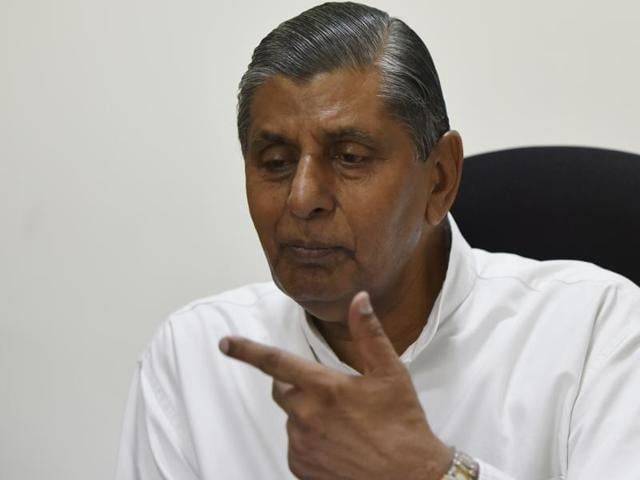 Balbir Singh Chauhan , chairman of Law Commission speaks during an interview.