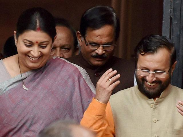 Irani swapped for Javadekar, but JNU students claim change is 'cosmetic'