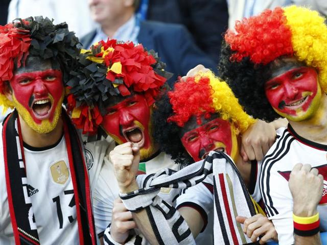 Germany fan before the Euro 2016 semifinal match.