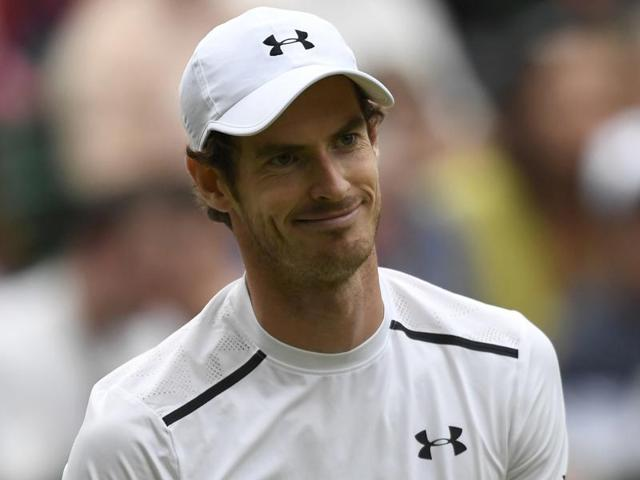 Andy Murray gestures towards the umpire during his match against France's Jo-Wilfried Tsonga.