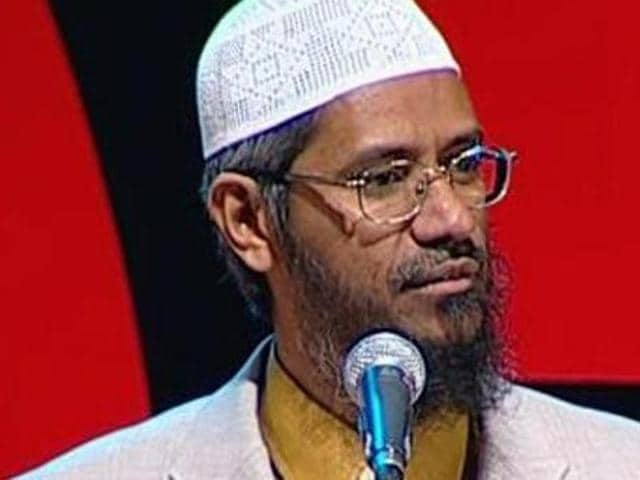 Islamic preacher Zakir Naik. Centre has said that 'appropriate action' will be taken after studying Naik's speeches.