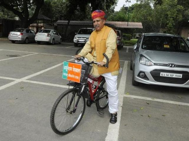 The BJP's new minister Arjun Ram Meghwal is in a fix. He loves to ride bicycles to work but his new status as minister of state in the finance ministry might not allow him to do so due to security concerns.