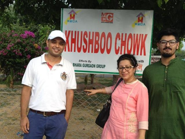 With the civic body failing them, local residents took the matter into their hands. They decided to clean the area and beautify it and renamed it as Khushboo Chowk.