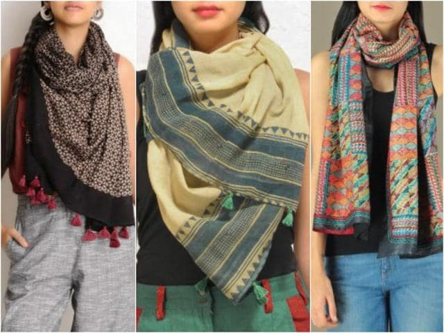 Sport colourful cotton, mulmul and chiffon scarves this monsoon and add to the beauty around.